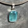 15.18 carat Aquamarine rectangle pendant5