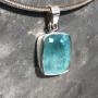 15.18 carat Aquamarine rectangle pendant7