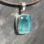 15.18 carat Aquamarine rectangle pendant8