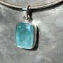 15.18 carat Aquamarine rectangle pendant9
