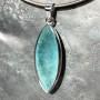36.50 carat Aquamarine marquise faceted pendant2