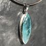 36.50 carat Aquamarine marquise faceted pendant4