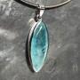 36.50 carat Aquamarine marquise faceted pendant5