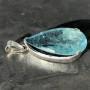 39 carat Aquamarine teardrop faceted pendant1