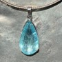 39 carat Aquamarine teardrop faceted pendant4