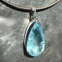 39 carat Aquamarine teardrop faceted pendant5