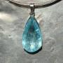 39 carat Aquamarine teardrop faceted pendant6