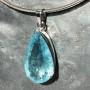 39 carat Aquamarine teardrop faceted pendant7