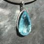 39 carat Aquamarine teardrop faceted pendant9