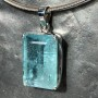 52.4 carat Aquamarine rect faceted pendant8