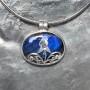 vivid blue labradorite filigree designer pendant