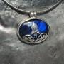 vivid blue labradorite filigree designer pendant1