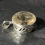 Filigree rutile quartz pendant