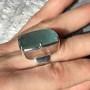 Large rectangle aquamarine ring6