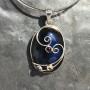 Oval Labradorite pendant wire design with garnet iolite peridot3