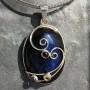 Oval Labradorite pendant wire design with garnet iolite peridot4