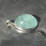 aquamarine oval pendant