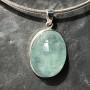 aquamarine oval pendant8