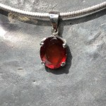 oval garnet pendant