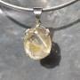 Rutile Quartz Pendant Faceted