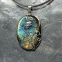Designer Labradorite wire work with iolite Pendant1