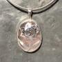 RoseQuartz designer rose filigree Pendant