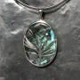 labradorite designer floral leaf filigree pendant1