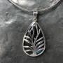 labradorite designer tree of life filigree pendant